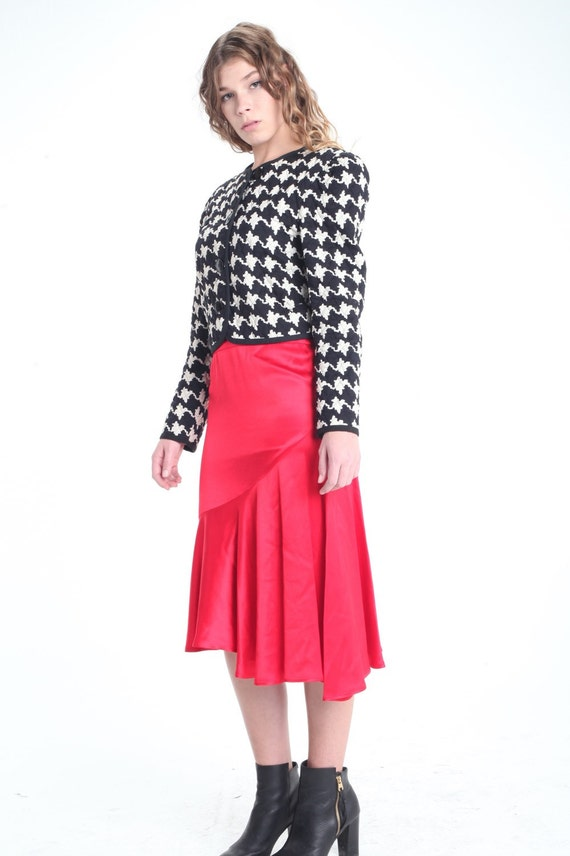 80s Quilted Houndstooth Jacket