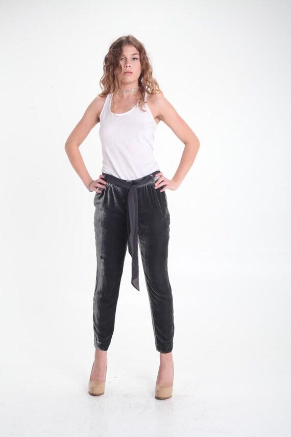 Elevenses Cropped Velvet Pants