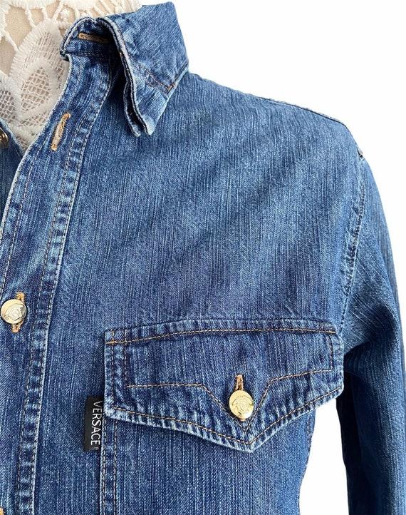Vintage Gianni Versace Denim Shirt - image 2