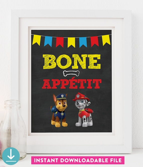 image relating to Marshalls Application Printable called Paw Patrol Occasion Indication - PRINTABLE - 8x10 - Chalkboard