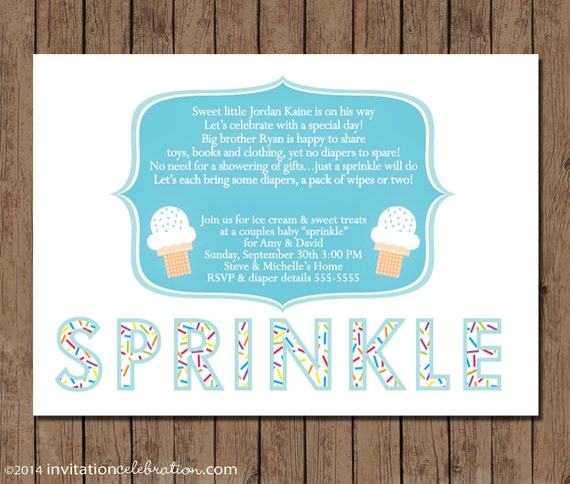 Baby Sprinkle Invitation PRINTABLE