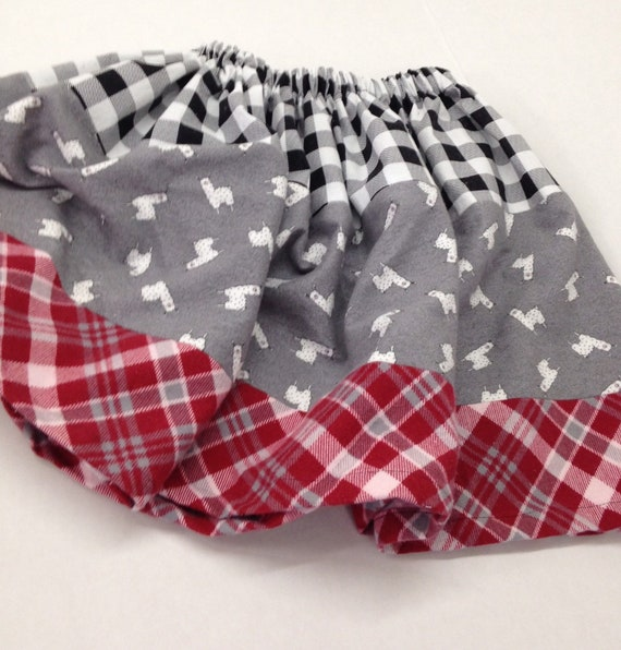 Flannel skirts fit 4 years to 10 years. Made to order in your preferred colors. Pre washed flannel scrap skirt.