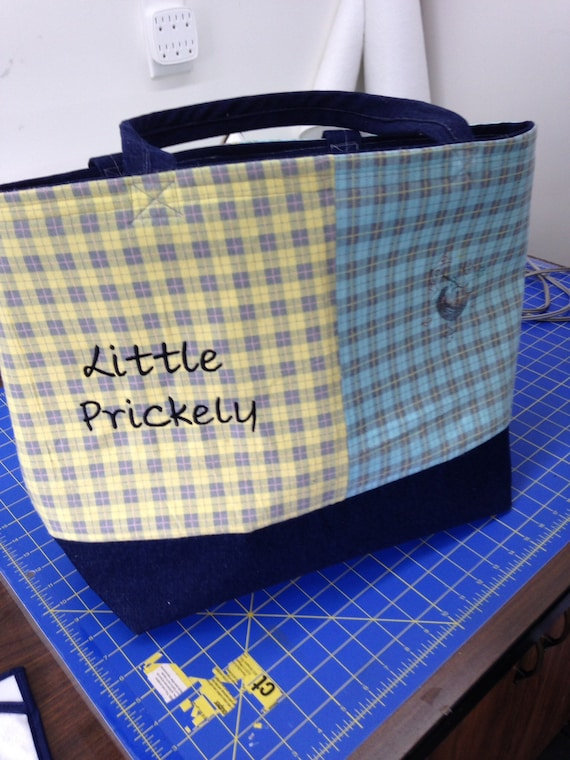 Custom order Tote bag 15x 17 with front pocket.