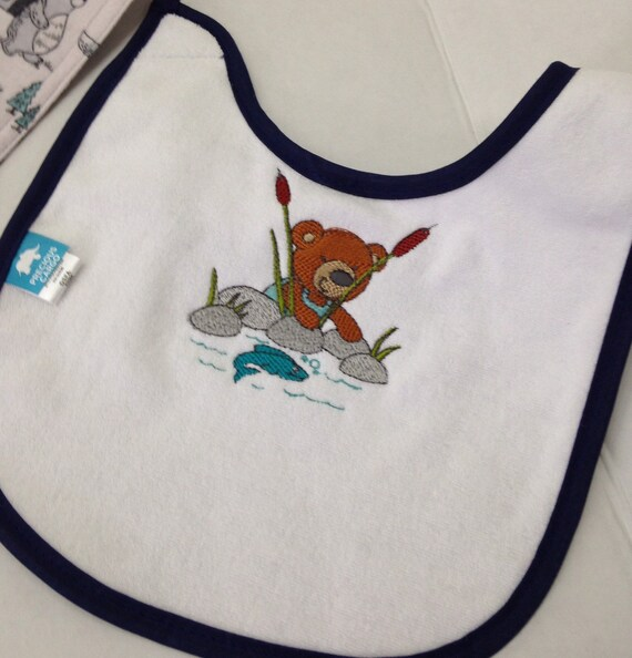 Baby bibs bandana in flannel hand made other bibs embroidery