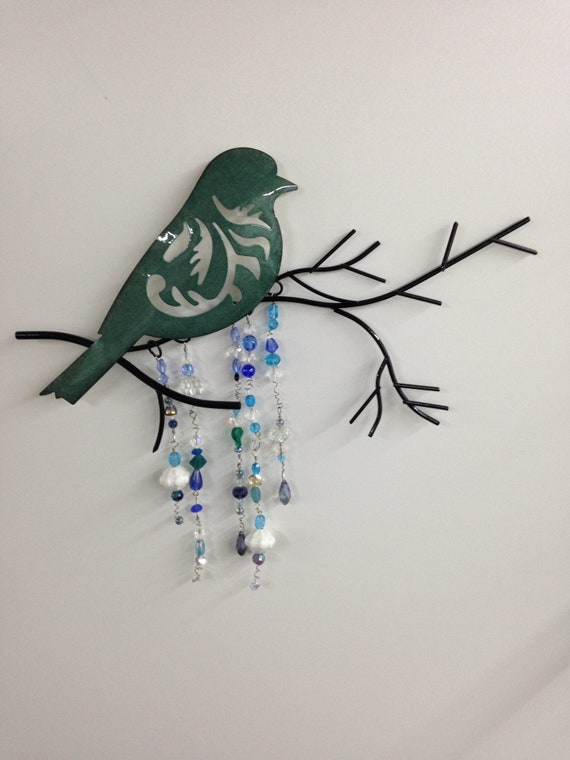 Blue bird sun catcher