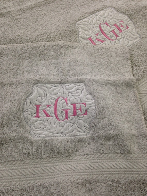 Personalized Bath Towels for graduation or college bound gift or wedding present.
