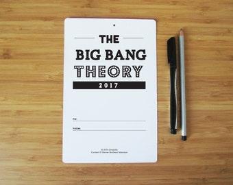 2017 Big Bang Theory TV Show Typography Quotes Wall Calendar - Individual Sheets