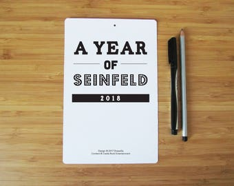 """2018 Seinfeld Quotes Typography Calendar - Printed Individually - 8"""" by 5"""""""