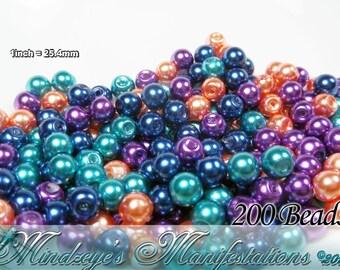 Mardi Gras Glass Pearl Mix 5-6mm