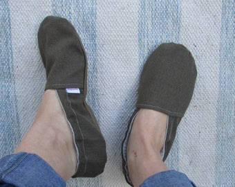 Custom Adult Slippers // House Shoes, Matching Mommy Shoes, Indoor Shoes, Rubber Soles, Made to Order, Mom Moccs, Womens House Shoes
