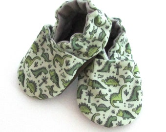 6780d2118207 Dino Eco Canvas Baby Shoes    Sage Olive Green