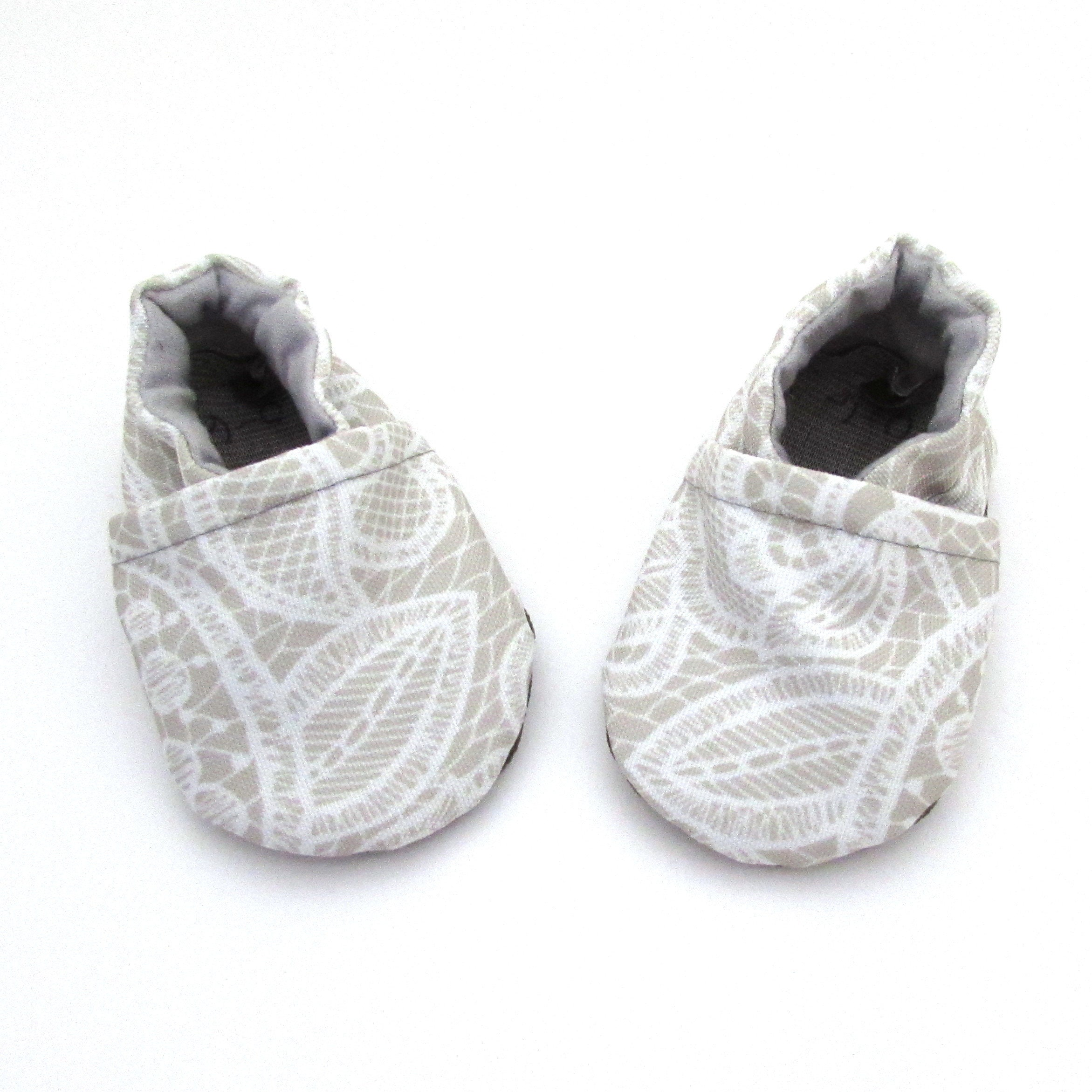 c285a43f14f0 Lace Print Eco-Canvas Baby Shoes    Cream White Eco-Friendly