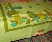 vintage new green kitchen accessories design tablecloth scotchguard
