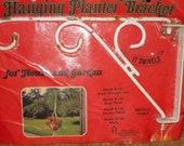 vintage wrought iron swivel hanging planter bracket hanger
