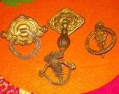 vintage ornate drawer pulls