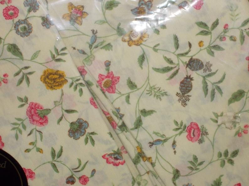vintage green floral full sheet set