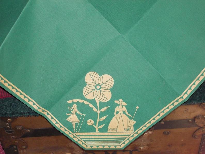 vintage RARE victorian tablecloth paper