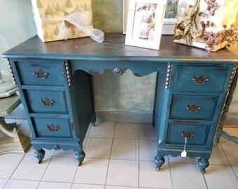 French Provincial Vanity, French Desk, Bedroom, Dressing Table, Ornate Desk, Writing Desk, Bohemian