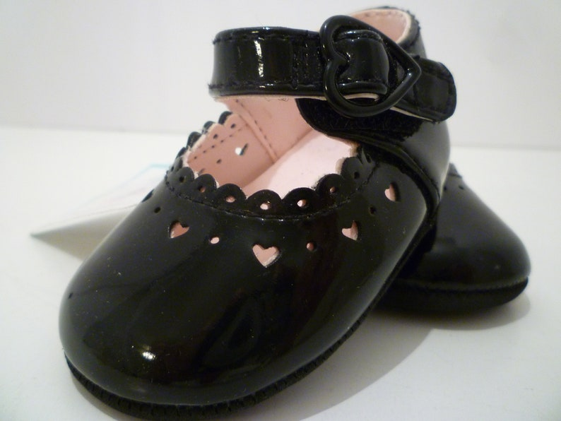 """63fde19d140b6 Vintage Baby Shoes. Black Patent Baby Shoes By """"Sprockets"""" Vintgae 1970's  Baby Shoes."""