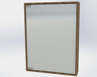 NEW Design - Mirrored Medicine Cabinet - Solid Wood - Cherry, Walnut, Beech, Oak, Ash