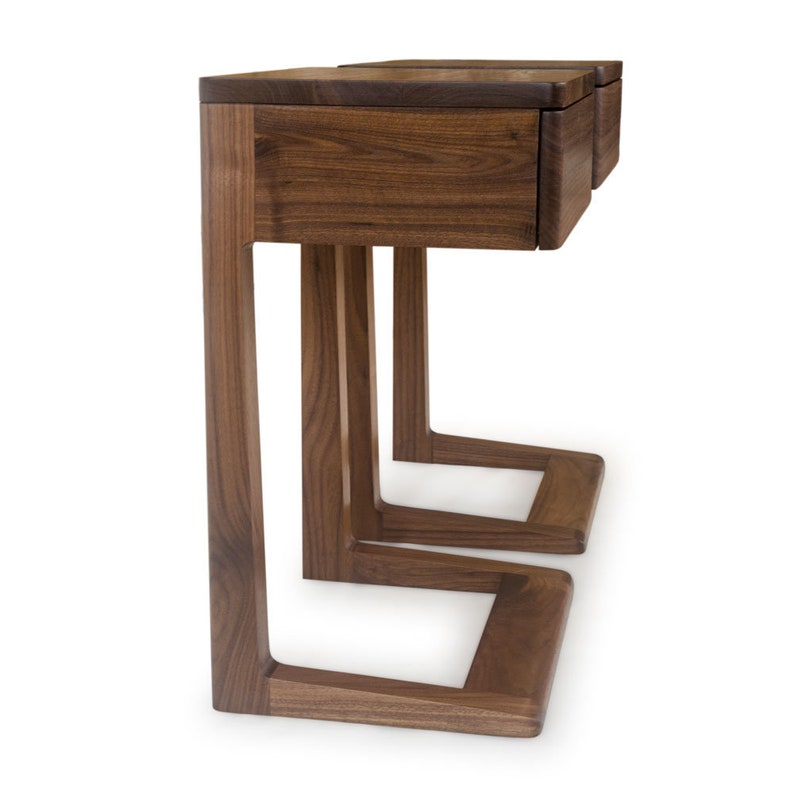 Wood Nightstand No 2 Night Stand Bedside Table Wood Bed Side Table Walnut Mahogany Maple Cherry Ash Oak Beech