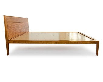 Mahogany Platform Bed No. 1 - Modern Wood Bed Frame - Twin, Full, Queen, King - Danish Modern Inspired - Solid Wood Bed