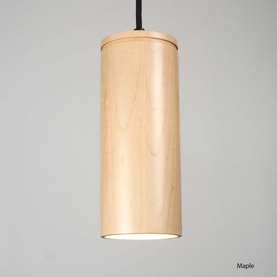 Cylinder Pendant Light Ul Listed Wood Light Modern Pendant Etsy