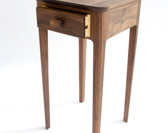 Petite Nightstand No. 1 - Modern Wood Night stand - Walnut, Maple, Cherry, Mahogany - Small Bedside Table - Accent Table - Danish Modern