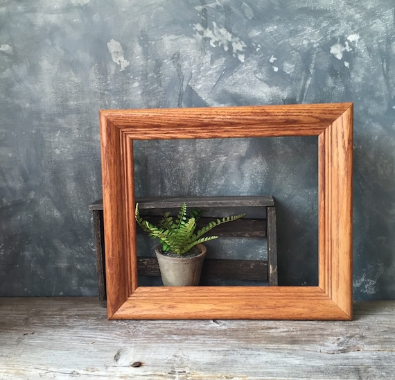 Wood Picture Frame Mid Century Modern Oak Wood Frame Etsy