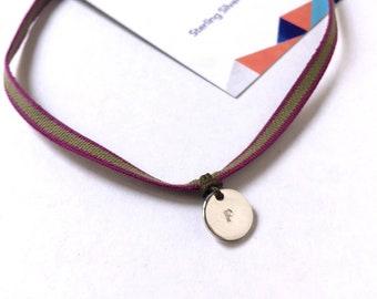 MENINA Choker/ Sterling Silver/personalized.