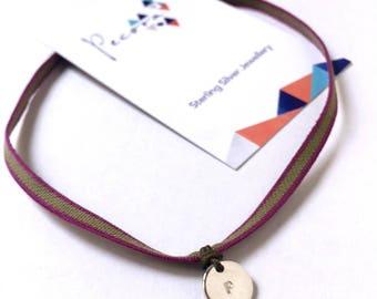 MENINA Choker elástico plata personalizado