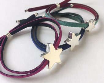 Personalized Sterling Silver Star Bracelet /STELLA.