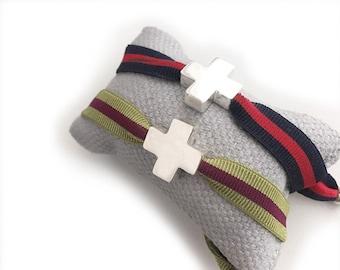 Men's Cross bracelet/ Sterling silver/personalized/ HOPE.