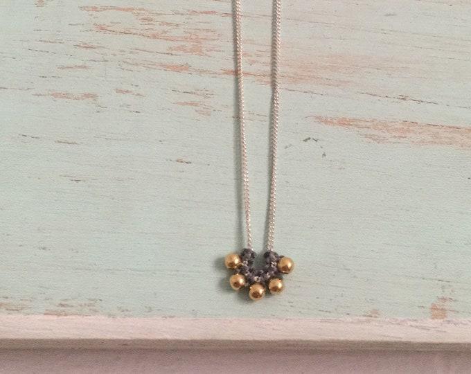 Collar Vida/ plata y goldfilled/ macrame/ collar minimal/ con cadena