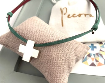Confirmation gift for her/ Sterling silver Cross Necklace/HOPE.