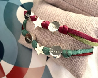 Sterling Silver Bracelet/ Star and Circle/ personalized.