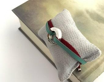 Couples' bracelet/ Sterling Silver/ stretch cord/ RONDANA.