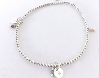 Sterling silver bracelet/ LOVE/personalized.