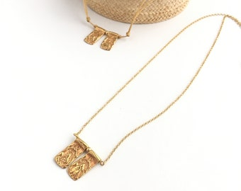 SCAPULAR Gold Plated with Chain
