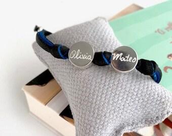 Men's Bracelet/ Sterling silver/ personalized/ BORN.