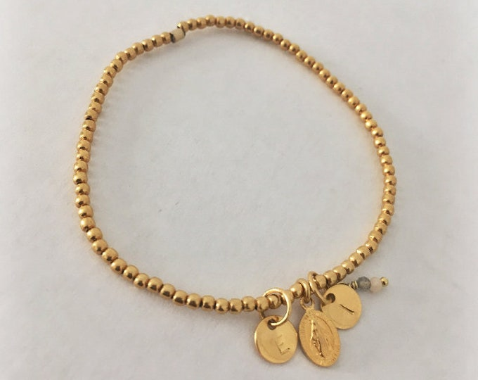LOVE bracelet/Miraculous Lady medal/ personalized.