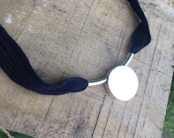 Personalized necklace/ BORN Silk.