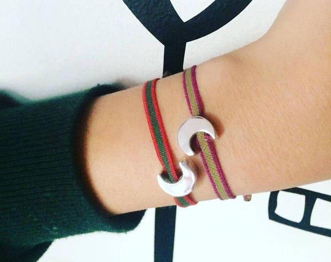 Half Moon bracelet/personalized.