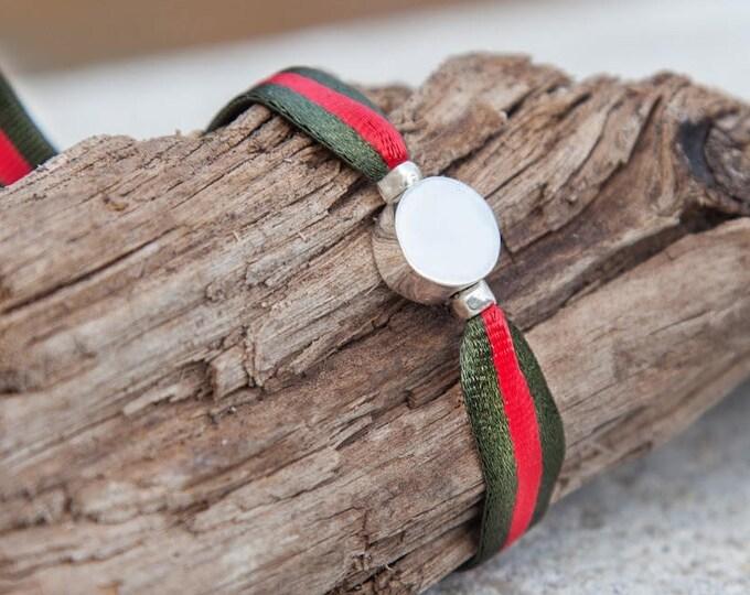 BORN Sterling silver stretch bracelet for men.