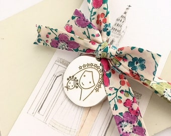 Baptism Gift for baby girl/ Child Virgin Mary medallion/newborn gift.