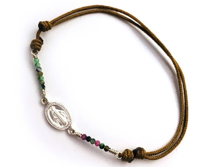 Sterling Silver MIRACULOUS Medal Bracelet