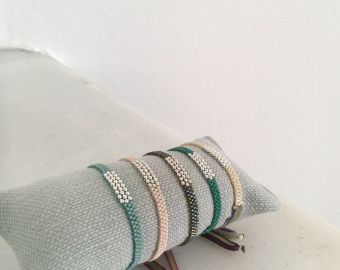 ONORE Delica Bracelet /Sterling silver / stretch cord.