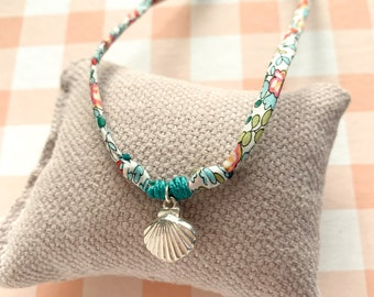 Gift for girl/ Shell Charm Memento Necklace/ Liberty cord/CAMINO Liberty