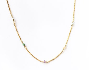 PIEDRITAS necklace/semi-precious stones.