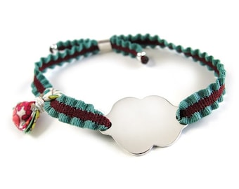 Gift for girl/ stretch bracelet/ ALICE